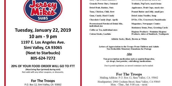Jersey Mike Fundraiser